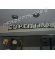 STAINLESS LUMINOUS EMBOSSED LETTERS IN STAINLESS BAR